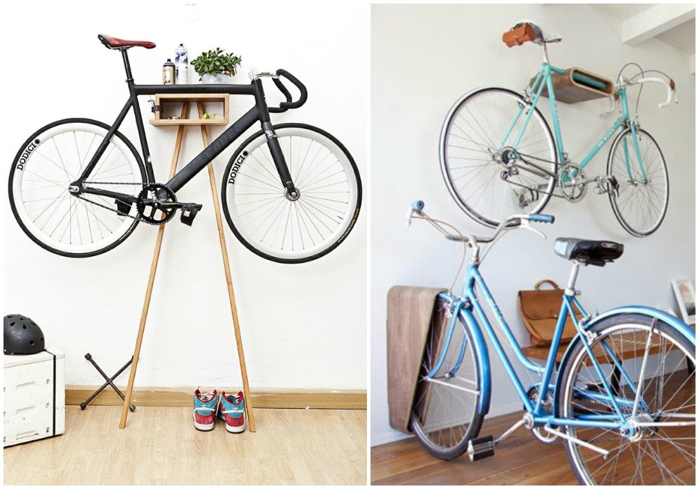 Ideas para guardar las bicis en casa - Guardar bici en piso pequeno ...