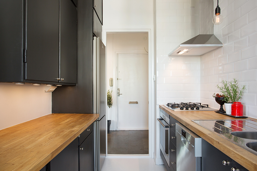 Distribuir y decorar un mini apartamento small low cost for Cocina 6 metros cuadrados