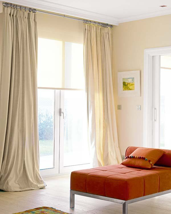 Combinar cortinas y estores bohochicstylebohochicstyle for Ideas para cortinas de salon