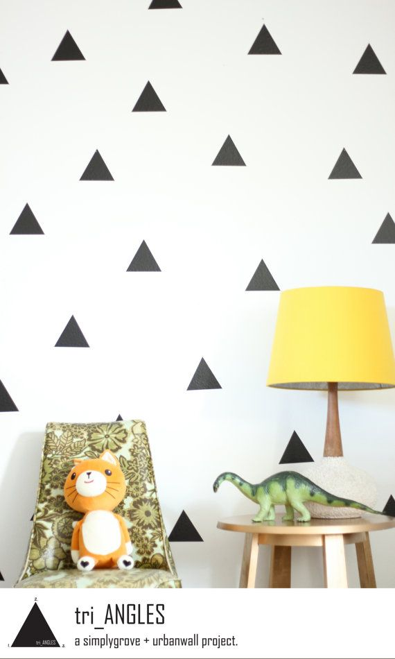 Triángulos para decorar tu pared
