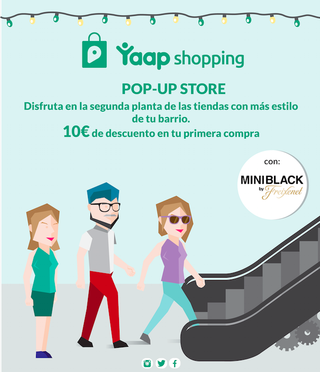 Pop up Yaap shopping: Planes navideños con regalo en Madrid.