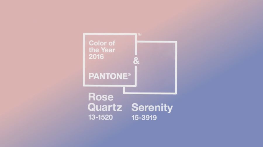 Colores Pantone 2016: Rose Quartz y Serenity.